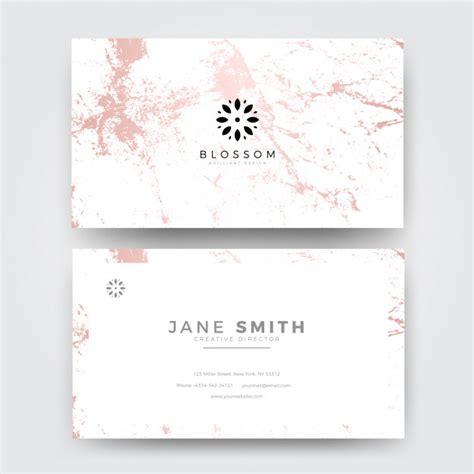 pink marble modern feminine business card template vector