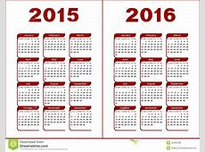 Calendar 2015, 2016 Stock Vector Image 43262008