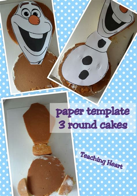 build  snowman cake teaching heart blog
