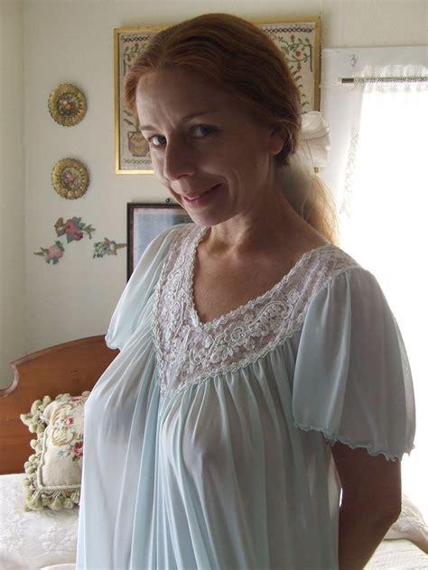 miss elaine pale blue short sleeved nightgown 7 miss elain… flickr