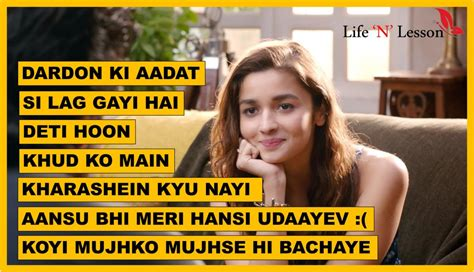 dear zindagi dialogues  quotes  lighten