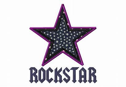 Rockstar Font Rock Star Applique Fonts Stitch