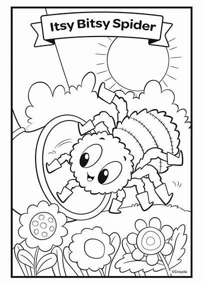 Spider Coloring Itsy Bitsy Nursery Rhymes Crayola