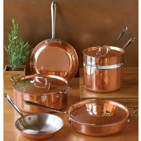 shiny copper bottomed pans cooking  plain greek