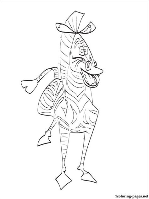marty  zebra  madagascar coloring page coloring pages