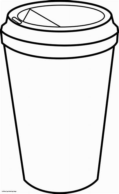 Coffee Cup Drawing Starbucks Cups Coloring Pages