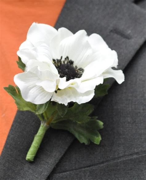items similar to wedding flowers white silk anemone with