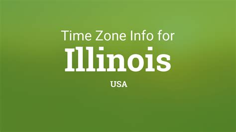 time zones  illinois united states