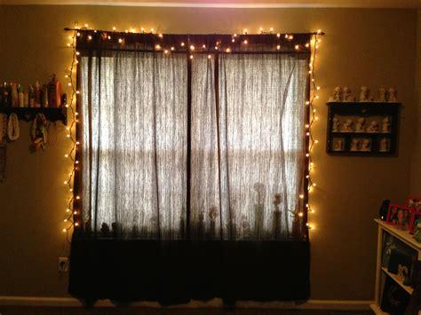string lights  bedroom  window   home