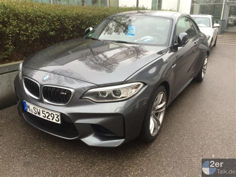 Bmw M2 Spotted In Mineral Grey And Sapphire Black