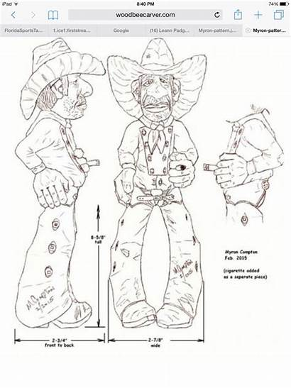 Carving Patterns Wood Cowboy Caricature Dremel Whittling