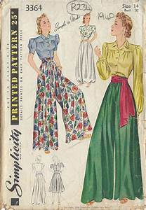 1940 vintage sewing pattern bust 32 quot waist 27 quot blouse
