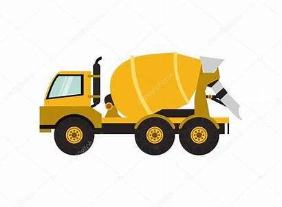 Mixer Ikone Lastwagen Cement Truck Revolvedora Clipart