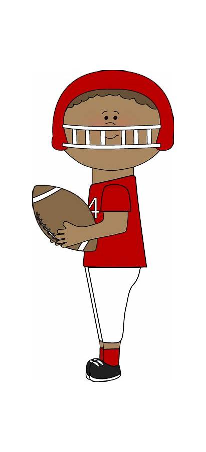 Football Kid Catching Clip Clipart Player Playing