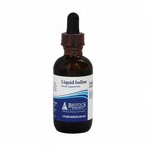 Liquid Iodine  Biotics Research  2oz