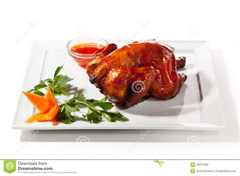 cuisine spicy baked chicken stock photo image of baked sauce roasted