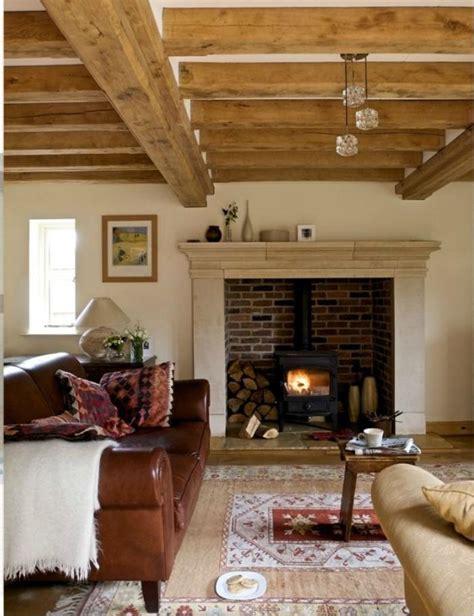 canapé cottage le range buches décoratif idées magnifiques en 40 photos