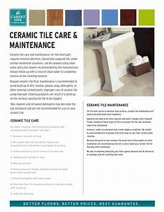 Ceramic Tile Care And Maintenance From Carpet One Floor  U0026 Home
