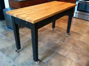rolling island kitchen rolling kitchen island with cherry butcher block top