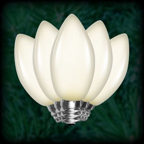 led warm white c9 christmas bulbs smooth replacement
