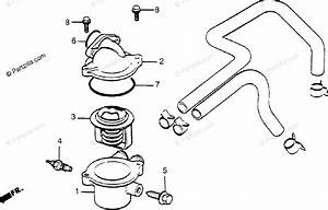 Honda Motorcycle 1984 Oem Parts Diagram For Thermostat