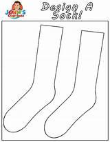 Socks Crazy Coloring John Sock Own Johnscrazysocks sketch template