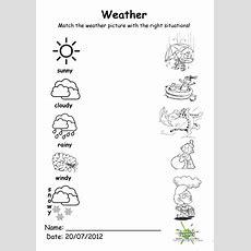 Weather Match Worksheet  Free Esl Printable Worksheets Made By Teachers