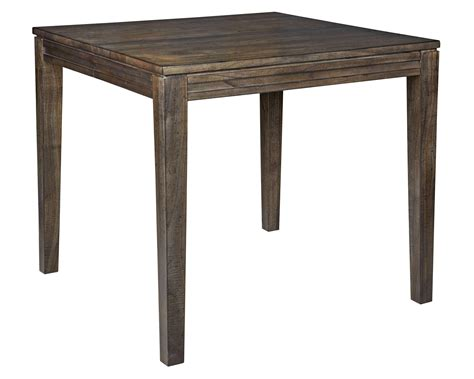 solid wood counter height dining table by
