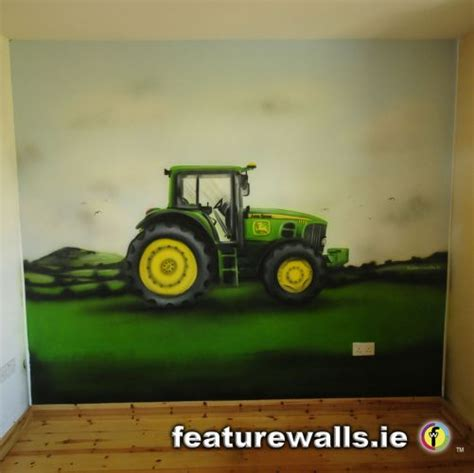 Deere Tractor Bedroom Decor by Murals Childrens Rooms Decorating Rooms