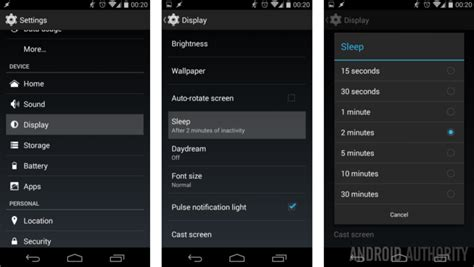 time for android android customization how to make your screen stay on