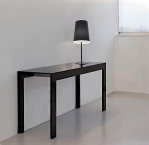 tavolo vetro nero allungabile tavolo consolle matrix tmc pedrali con piano in vetro