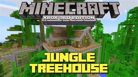 minecraft xbox  cool jungle treehouse tu creation youtube