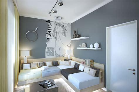 Gray White Styleliving Room Interior Design Ideas