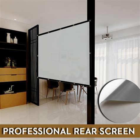 nierbo basic series rear projector screen   inches
