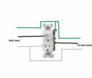 I Am Trying To Wire A Switched Combo Outlet Were The