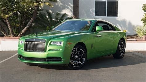 green rolls royce rolls royce wraith goes for the java green color