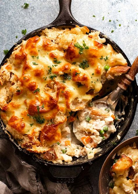 garlic bread leftover turkey pot pie recipetin eats