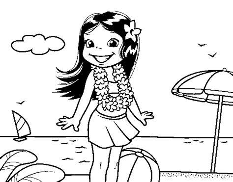 disegno di una ragazza da colorare disegno di ragazza sulla spiaggia da colorare acolore