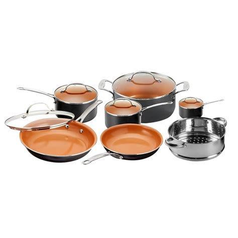 shop gotham steel  piece  stick copper cookware set