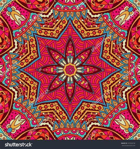 Tribal Art Bohemia Seamless Pattern Ethnic Geometric