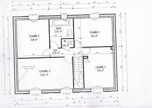 plan maison etage 120m2 With plan maison 120m2 4 chambres etage