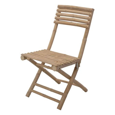 chaises pliantes de jardin lot de 2 chaises de jardin pliantes bambou chaise et