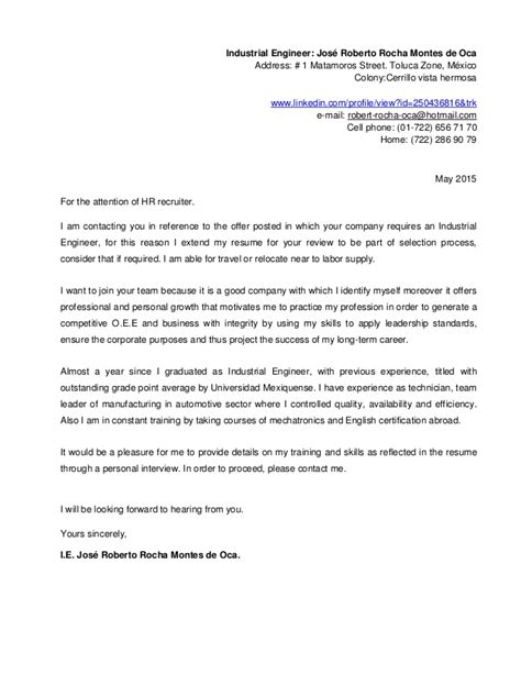 resume  cover letter english