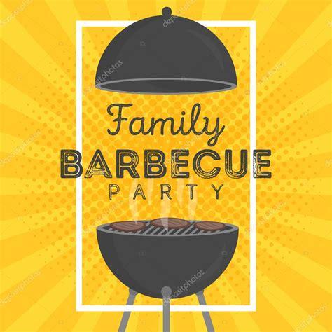 schoene vektor grill party einladung design vorlage