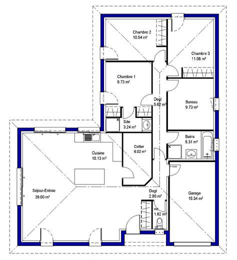 maison 4 chambres lysa contemporaine maisons lara