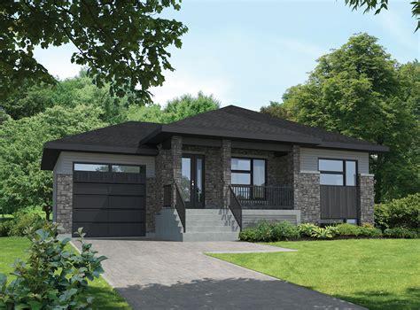 split level starter contemporary house plan pm