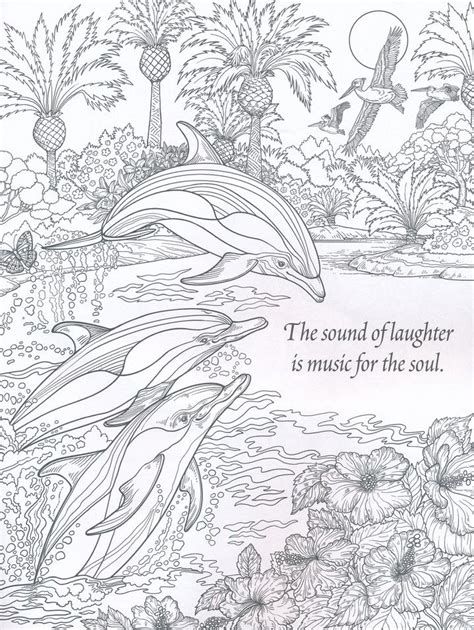 coloring pages for adults nature the sound of laughter nature coloring book for adults
