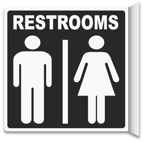 2way Restrooms Sign T4336  By Safetysignm