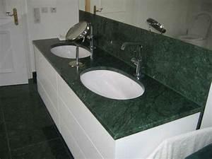 Waschbeckenunterschrank Für Zwei Waschbecken : gr ner marmor f r einen eleganten look ~ Bigdaddyawards.com Haus und Dekorationen