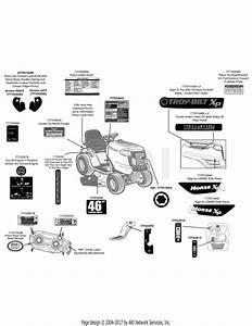 Troy Bilt 13wx79kt011 Horse Xp  2011  Parts Diagram For